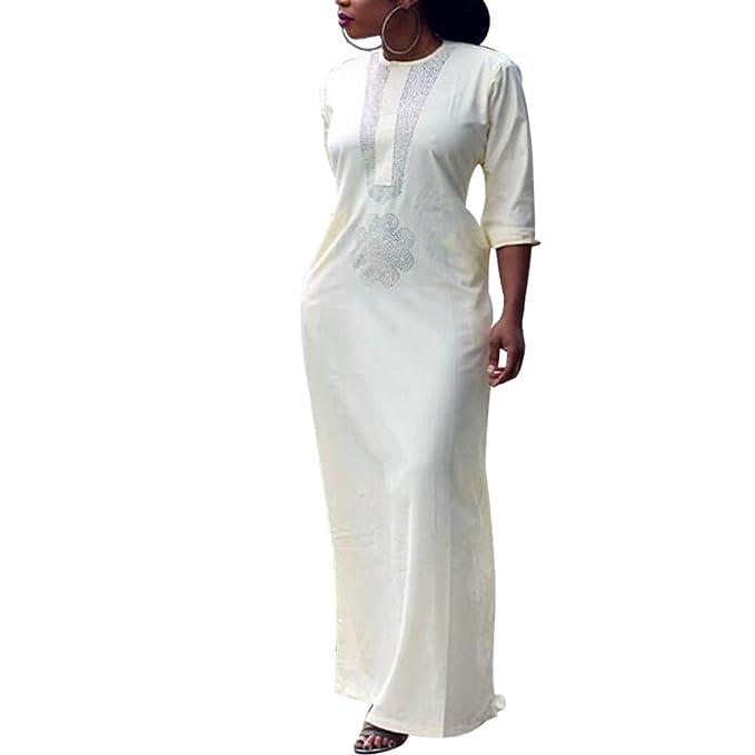 Amazon.com: H D - Vestido africano para mujer con pedrería ...