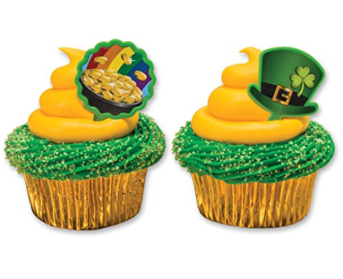 Saint Patrick's Day Pot of Gold and Top Hat Cupcake Picks - 24 pcs