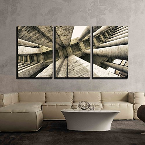 St Peter Square in Rome Wall Decor x3 Panels