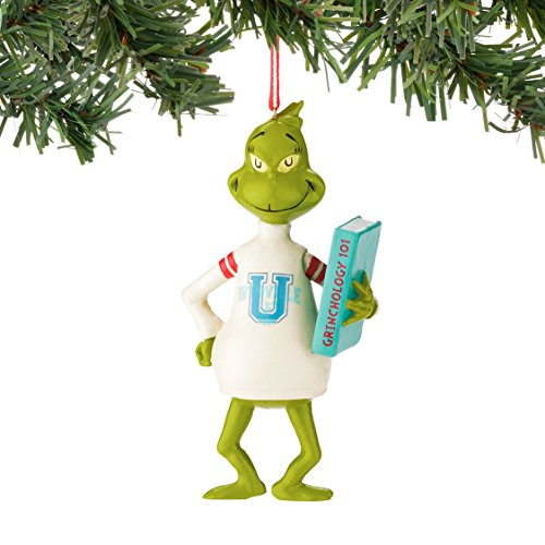 Grinch Who U Sweater Ornament