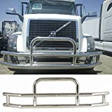 Haitzu Deer Guard Grill Guard for Volvo VNL 2004-2017 Made of Heavy Duty Steel Grille Bumper with Mounting Kit