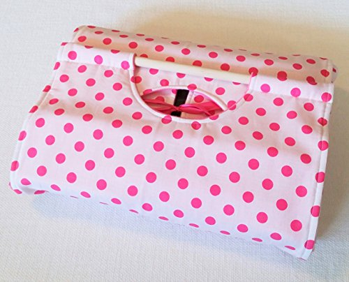Pink Dot 9x13 Casserole Carrier - Made in USA - Handmade Heritage Panels