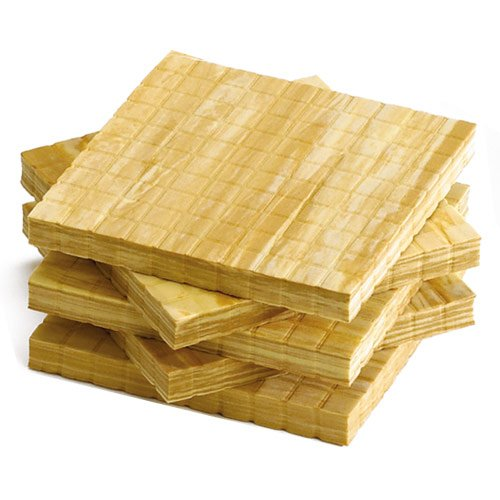 Wood Base Set - EAI Education QuietShape Foam Base Ten Flats: Faux Wood - Set of 10