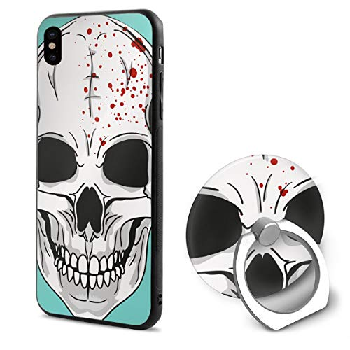 Halloween Mask Clipart iPhone X Case iPhone 10 Case Scratch Proof Suitable 5.8 -