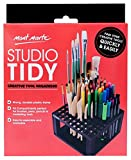 Arts & Crafts : Mont Marte 96 Hole Plastic Pencil & Brush Holder, Desk Stand Organizer Holder for Drawing Markers, Paint Brushes, Colored Pencils