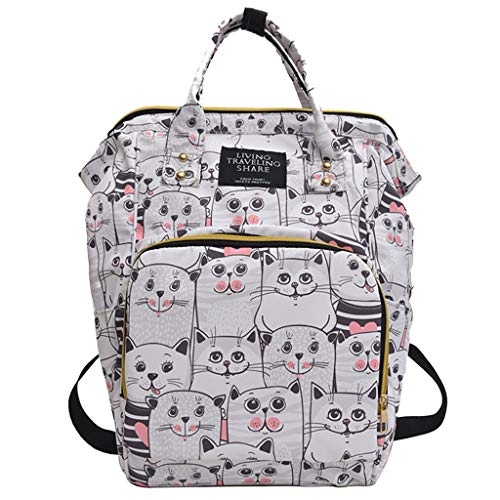 Diaper Backpack, Large Capacity Baby Bag, Multi-Function Travel Backpack Mummy Nappy Bags, Waterproof Nursing Bag SIN+MON ()
