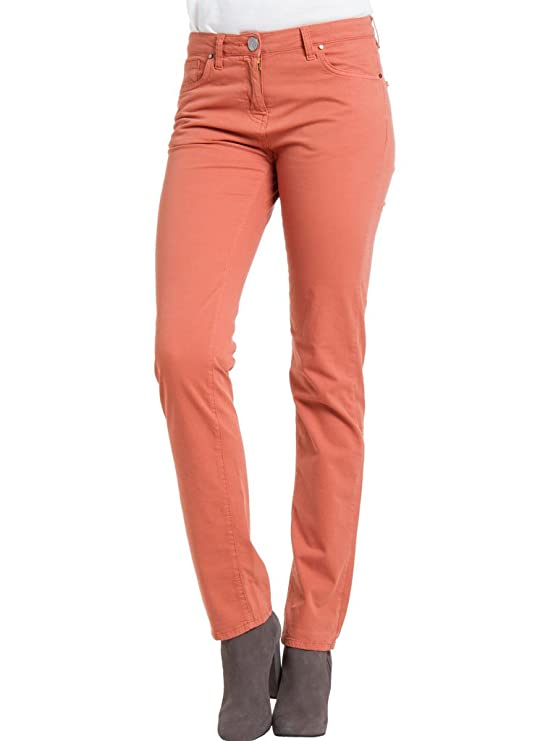 Donna Carrera Gabardina Per Tessuto Pantalone Tinta Unita Jeans qpHprAt