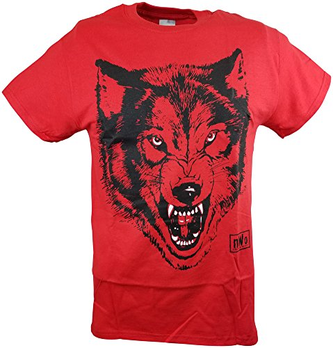 b44b65552debb Hybrid Tees NWO Red Wolfpack New World Order Wolfpac Mens T-Shirt-M
