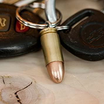 45 ACP Hollow-point Real Bullet Keychain