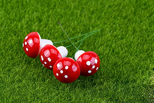 MushroomGarden Stakes,Beautyolove 50 Pc Mushroom Foam Fairy Garden Stakes Handmade Outdoor Ornament Decorations Decor Toadstools for Lawns, Planters, Gardens, Yards (Garden Ornaments Toadstool)
