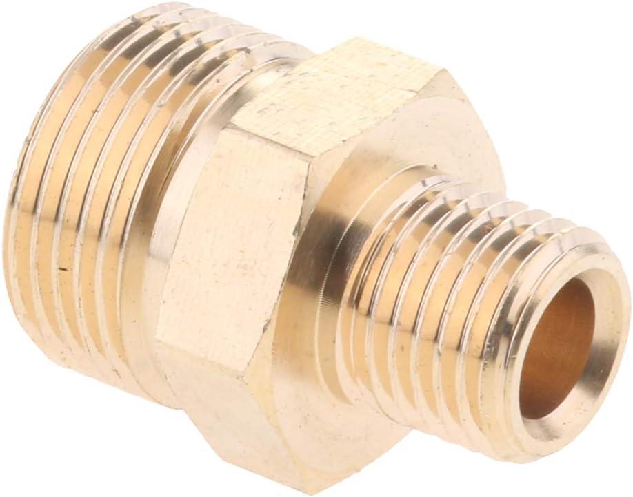 M22 14mm Giratorio a M22 Montaje m/étrico Tubo de lat/ón Piezas de conexi/ón Adaptadores de Conector r/ápido Gobesty Conector de Manguera para Lavadora a presi/ón