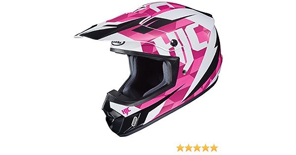 HJC Unisex-Adult Off Road CS-MX II Dakota Helmet Pink//White//Black, Small
