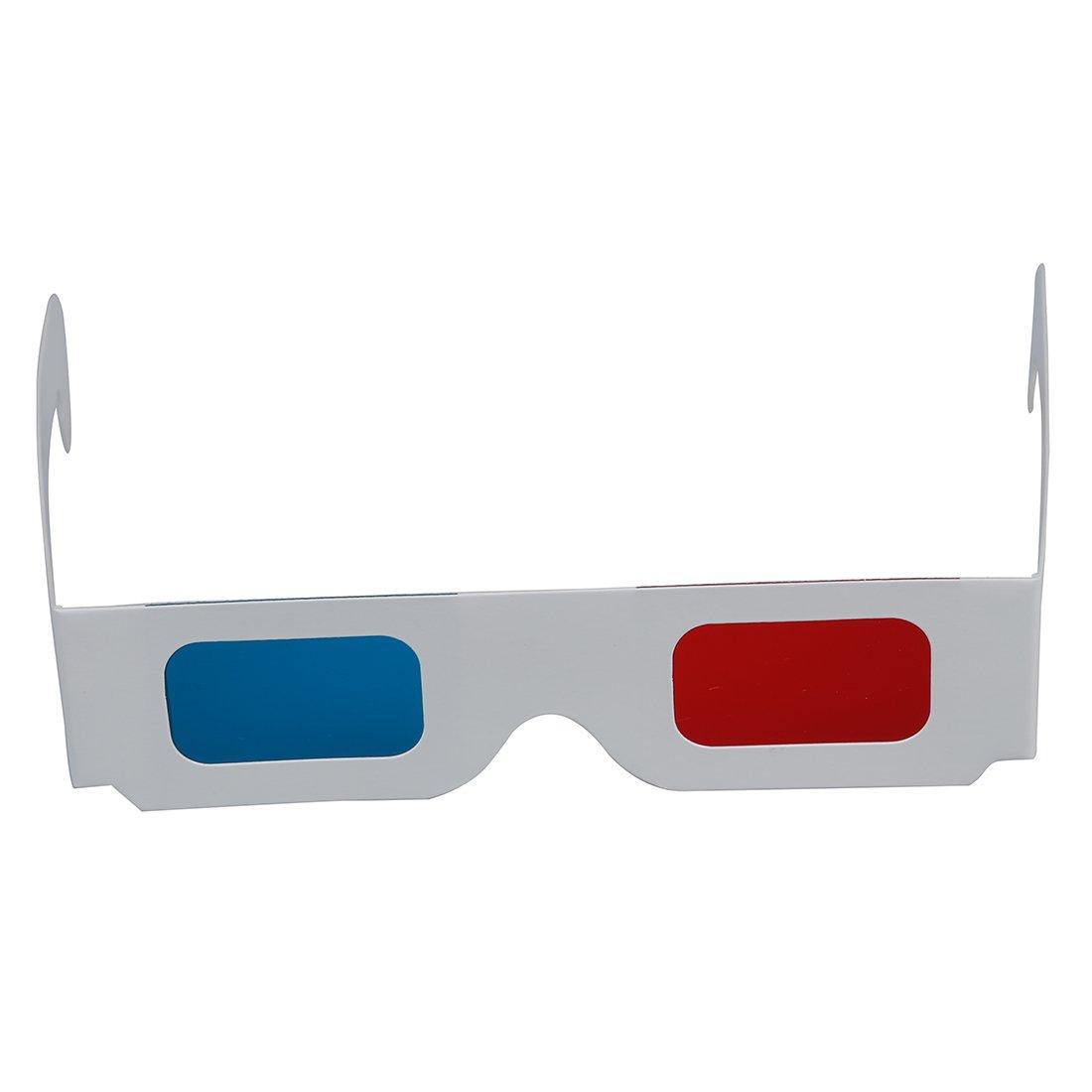 azul 3D gafas anaglifo 3D gafas 3D dimensional 100 pares de rojo // cian R TOOGOO