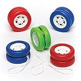 Baker Ross Yo Yo Spinning Wheel (Pack Of 5) For Kids Party Bag Filler Loot Gifts For Kids (Pack Of 5)