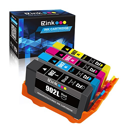 E-Z Ink (TM) Remanufactured Ink Cartridge Replacement for HP 902XL 902 XL to use with OfficeJet Pro 6968 6978 6970 6975 6954 6958 6960 6976 6962-New Upgraded Chips (Black,Cyan,Magenta,Yellow, 4 Pack)