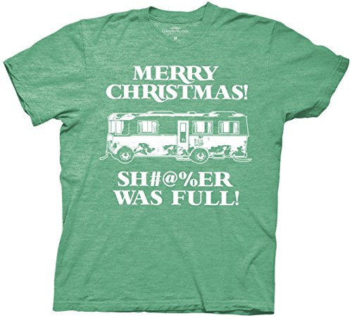 Christmas Vacation Shi#$er Was Full T-Shirt (Large, Heather Green)