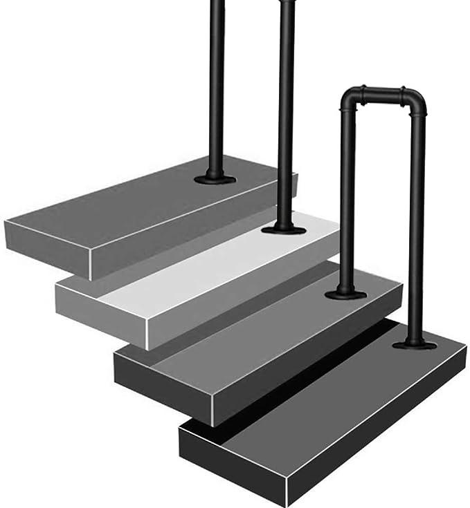 Barandilla de escalera de 2/4 escalones, barandilla de escalera de parque de porche al aire libre, barandilla antideslizante de seguridad para niños mayores, parque negro Barandilla de tubería de hi: Amazon.es: Hogar