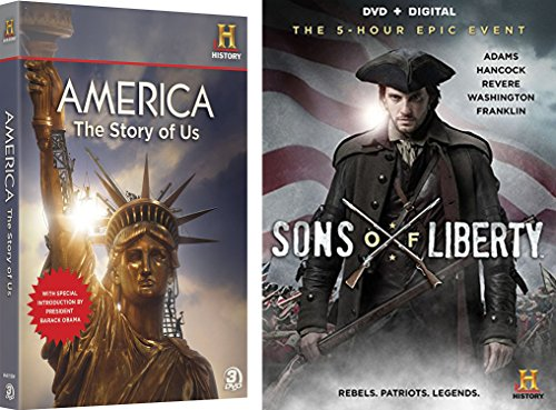 American History Collection - Sons of Liberty (2-Disc Set) & America The Story Of Us (3-Disc Set) 5-DVD Bundle