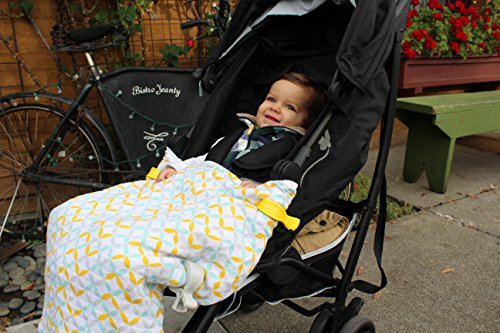 Image of the Luxury Organic Stroller Blanket - Includes Free Multi-Use Clips
