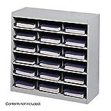 Scranton & Co Grey Steel Mail Organizer - 18 Compartments