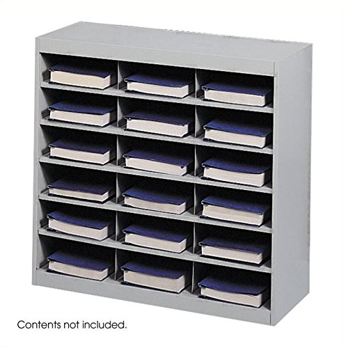 Scranton & Co Grey Steel Mail Organizer - 18 Compartments by Scranton & Co