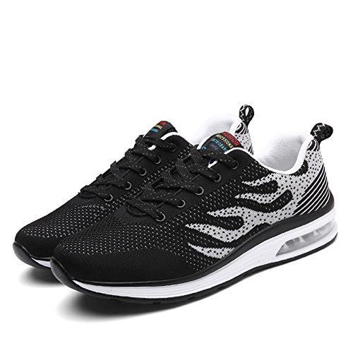 Weweya hombres Respirable Zapatos para correr Gray