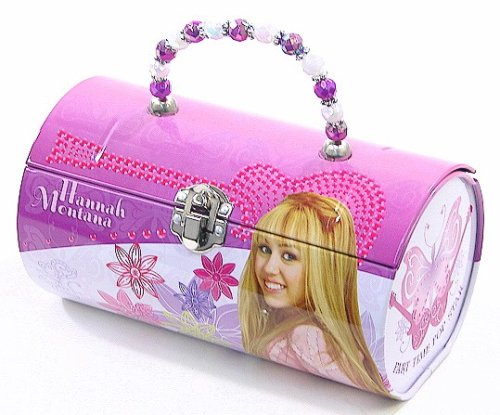 Hannah Montana Lunch Box (Hannah Montana Purle, Pink and White Kids Tin Lunch Box)