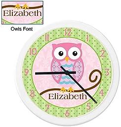 Owls Girl Clock
