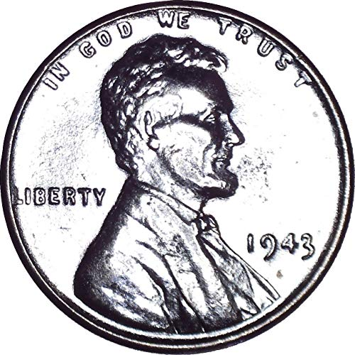 1943 Steel Lincoln Wheat Cent 1C About Uncirculated