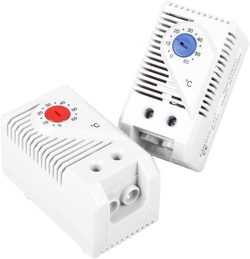0-60 ℃ Compact regolatore di temperatura termostato meccanico Interruttore Rosso//Blu