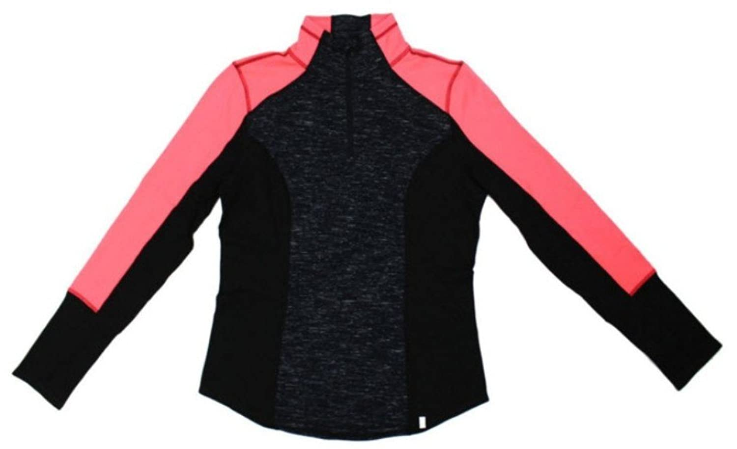 Active Life 90掳 by Reflex Ladies Athletic Jacket Black Snowflake & Neon Coral