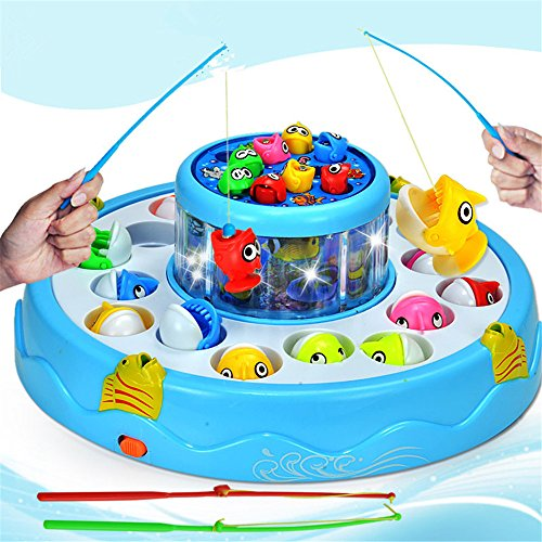 Let 39 s go fishin magnetic fishing playset double fish pool for Electronic fishing game