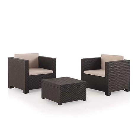 TerrazaColor Plazas Jardín 2 Chocolate Diva Conjunto Muebles Shaf 8n0OPwk