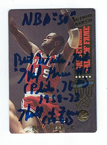 Autographed Hal Greer 1993 Action Packed Card.