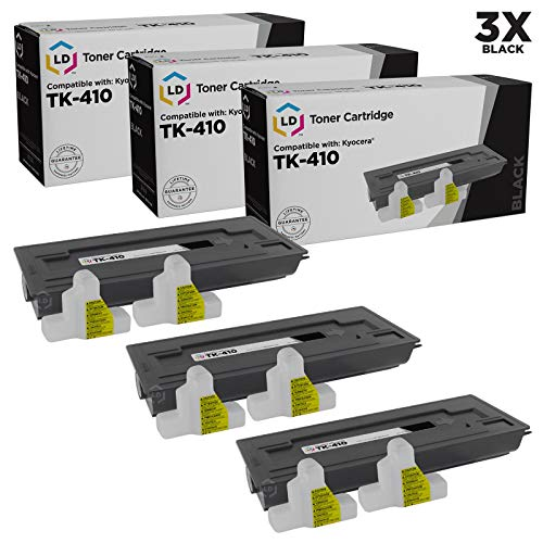 - LD Compatible Toner Cartridge Replacement for Kyocera TK-410 (Black, 3-Pack)