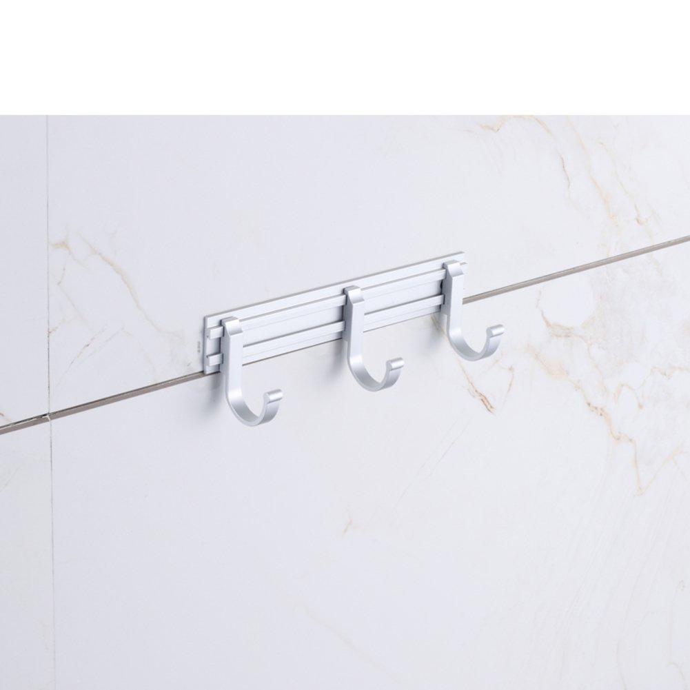 bathroom hooks/ Space aluminum hook/ door-back hook/Row/coat and hat hook -B hot sale