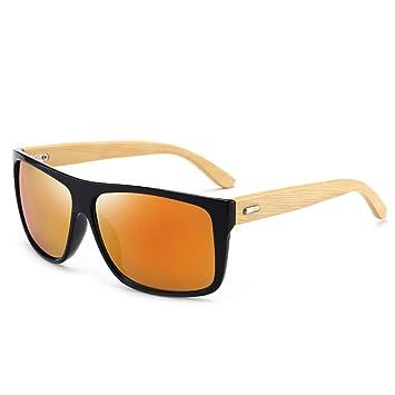 ZLULU Gafas De Sol Gafas De Sol De Bambú para Hombre Gafas ...