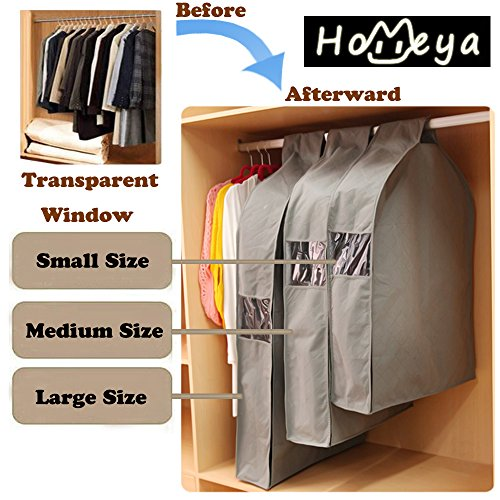 homeya-triple-sets-small-medium-large-sizes-waterproof-transparent-clothing-care-hanging-bag-garment