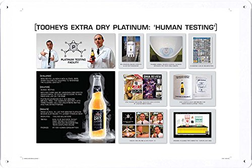 tin-sign-metal-poster-plate-8x12-of-tooheys-extra-dry-696ml-human-testing-by-food-beverage-decor-sig