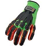 Ergodyne ProFlex 920 Nitrile-Dipped Impact-Reducing Work Gloves, Large