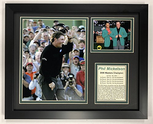 Legends Never Die PGA Phil Mickelson 2006 Masters Champion Framed Double Matted Photos, 12