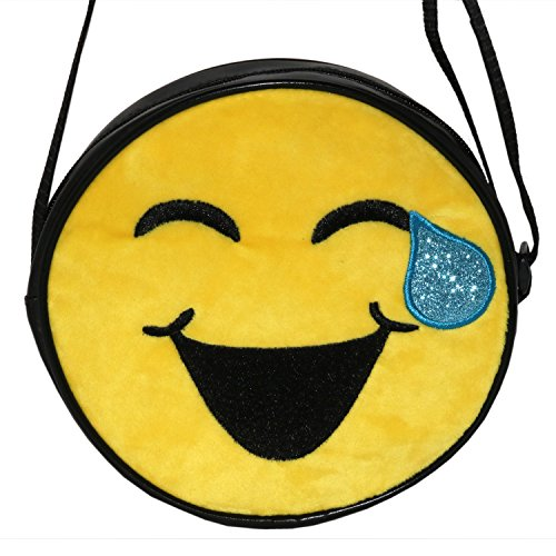 Emojination Love and Laughter 2-Sided Matt PVC Crossbody Bag, Adjustable Straps by Emojination (Image #2)
