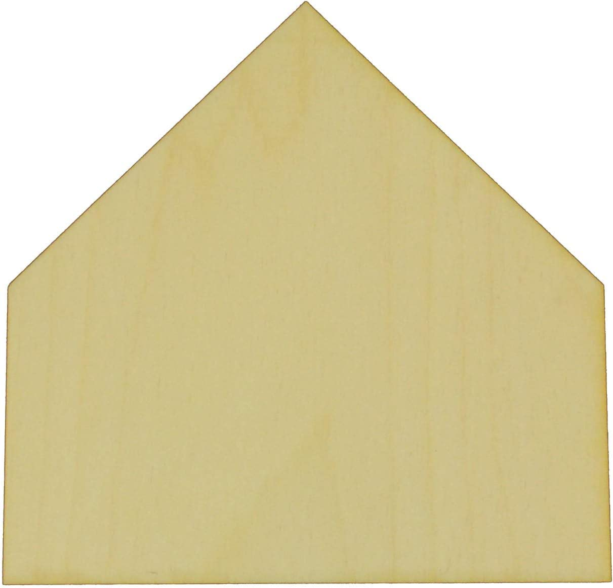 """Unfinished Home Plate Wood Cut Out Available in a Variety of Sizes and Thicknesses (1/8"""" Thickness, Large 12"""
