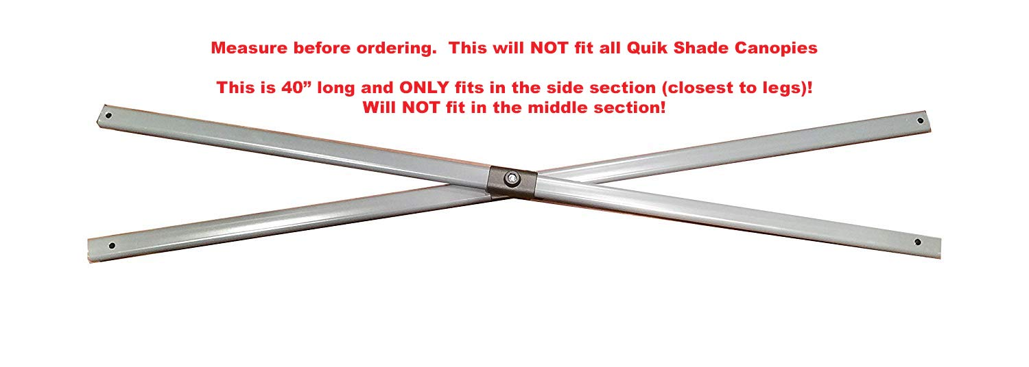 Quik Shade 10×10 Expedition Instant Canopy -SIDE Truss Bars 40 Part