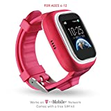 TickTalk 1.0S Touch Screen Kids Smart Watch, GPS Phone Watch, Top Rated Positioning Chip, Phone/Messaging (SIM CARD INCLUDED) (pink)