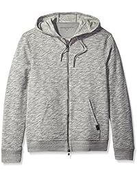 John Varvatos Men's 2-Way Zip Hooded Sweater
