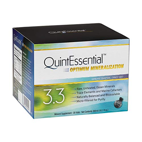 QuintEssential 3.3 - Pure Seawater Electrolyte Liquid Minerals for Performance + Energy Support (30 Single Serving Vials) ()