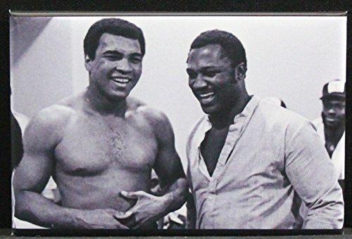 Muhammad Ali & Joe Frazier B & W Photo Refrigerator Magnet.