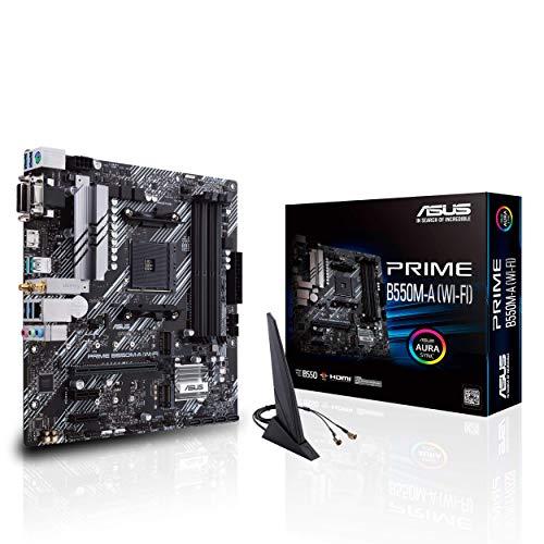 ASUS PRIME B550M-A (WI-FI) moederbord AMD B550 (Ryzen AM4) dual M.2, PCIe 4.0, Intel® WiFi 6, 1 GB Lan, HDMI/D-sub/DVI…