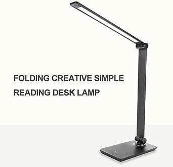 Lámpara Escritorio LED,Lámparas de Mesa USB Recargable (3 Modos ...